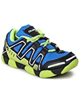 Columbus Blue And Green Boys Sports Shoes Junior 18