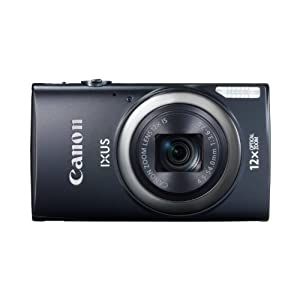 Canon IXUS 265 HS 16 MP Point and Shoot (Black) with 12x Optical Zoom
