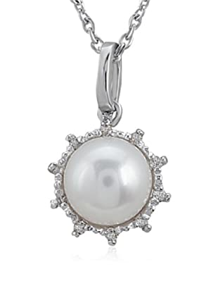 Divas Diamond Collar Gemstone Pearl Plata