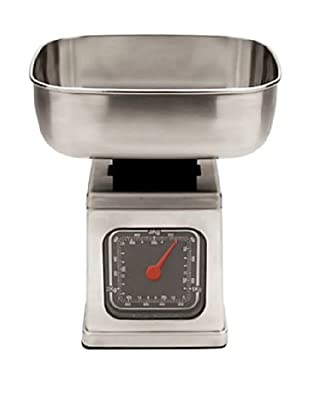 MIU France Brushed Stainless Steel Analog 6-Pound Kitchen Scale (Silver)