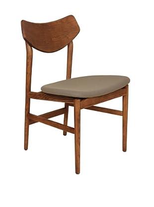 Control Brand Borlange Side Chair, Walnut/Grey
