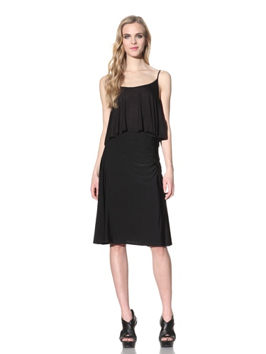 Just Cavalli Women's Jersey Skirt with Side Gathers (Black)