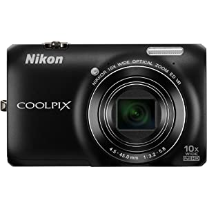 Nikon Coolpix S6300 16MP Point-and-Shoot Digital Camera (Black) with 4GB Card, Camera Pouch