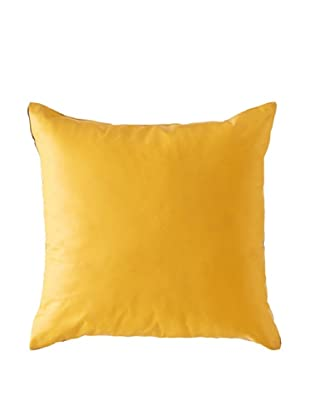Natural Brand Sienna Leather Pillow, Tangerine