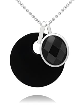 Nahla Jewels Anhänger Sterling Silber Zirkonia Onyx