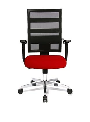 Topstar Bürodrehstuhl X-Pander inkl. Armlehnen (rot/schwarz)