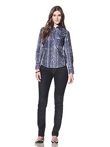 Robert Graham Women's Jules Shirt (Blue)