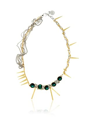 Gemma Redux Asymmetrical Multi-Chain & Crystal Necklace