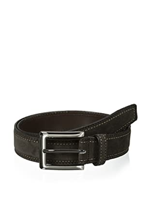J.Campbell Los Angeles Men's Suede Stitched Belt (Brown)