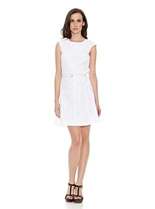 Cortefiel Vestido Sangalo Falda Vuelo (Blanco)