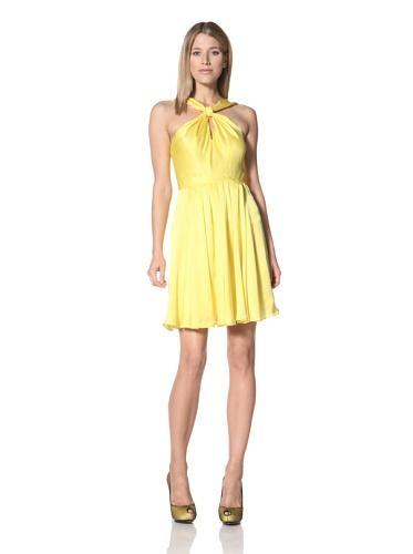 Halston Heritage Women's Knot Front Dress (Citron)
