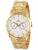 Titan Regalia Analog White Dial Men's Watch - NE1521YM04
