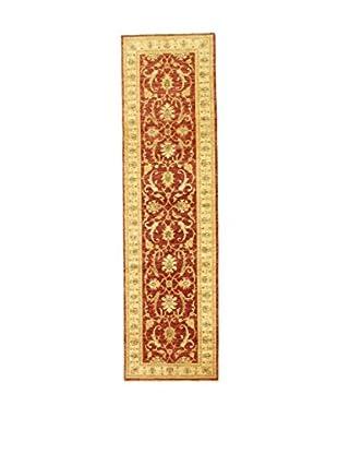 L'Eden del Tappeto Teppich Zeigler rot/gold 295t x t80 cm