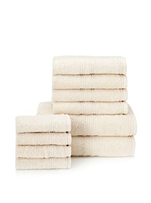 Chortex 10-Piece Imperial Bath Towel Set, Vanilla