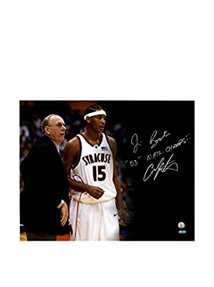 Steiner Sports Memorabilia Carmelo Anthony & Jim Boeheim Dual-Signed Black Background Photo