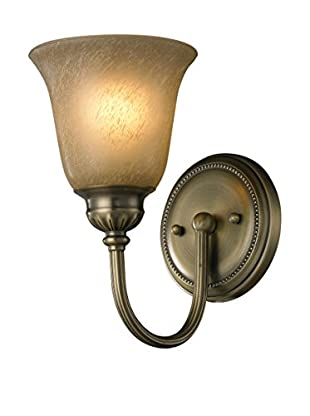 Artistic Lighting Ventura 1-Light LED Sconce, Antique Brass
