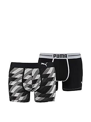 Puma 4tlg. Set Boxershorts Remaster Argyle Print