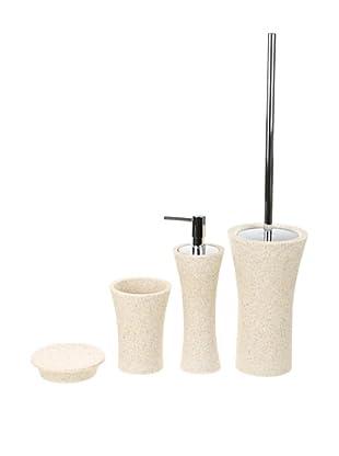 Gedy by Nameeks Flaca Bathroom Accessory Set, Natural Sand