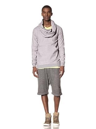 B: Scott Men's Flannel Funnel Neck Sweater (Heather Grey)