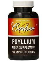 Carlson Labs Psyllium Fiber Supplement, 500mg, 100 Capsules