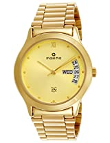 Maxima Analog Gold Dial Men's Watch - 06366CMGY
