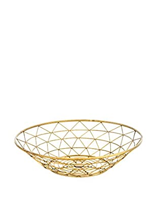 LUXURY GLAM Hogar Bowl 51X12 Metal Dorado Dorado