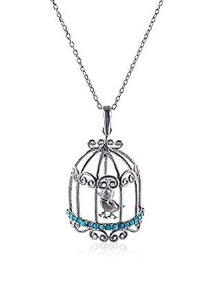 MY MACHT Jewels Conjunto de cadena y colgante  plata de ley 925 milésimas