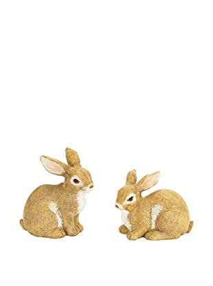 Melrose International Set of 2 Sweet Bunnies
