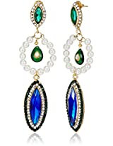 Ava Traditional Drop Earrings for Women (Blue) (E-SD-1607)
