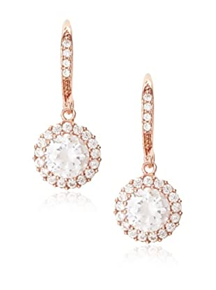 CZ By Kenneth Jay Lane Rose Pavé Round Drop Earrings