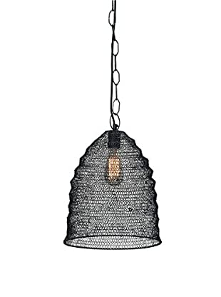 Jamie Young Company Spring Weave Beehive Pendant, Grey
