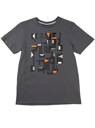 Kelme Camiseta Manga Corta Prints Geométricos (Gris Antracita)