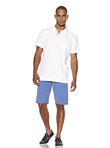 Tailor Vintage Men's Garment-Dyed Polo (White)