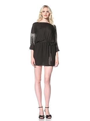 Parker Women's Beaded Batwing Dress (Black)