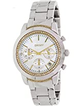 DKNY Chronograph NY8588 Mother Of Pearl Analogue Watch - For Women