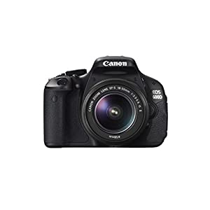 Canon EOS 600D 18MP Digital SLR Camera (Black) with EF-S 18-55 IS Kit Lens, SD Card and Camera Bag