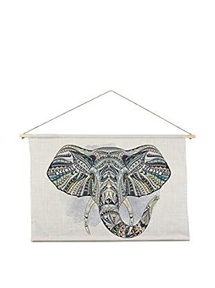Surdic Wandteppich Elephant mehrfarbig