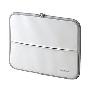 【クリックでお店のこの商品のページへ】ELECOM 低反発発泡ポリウレタンインナーバッグ(参考収容寸法275*40*215mm) ホワイト ZSB-IB017WH