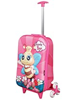 T-Bags For Kids 3D Bumble Bee Pink Children's Trolley Bag