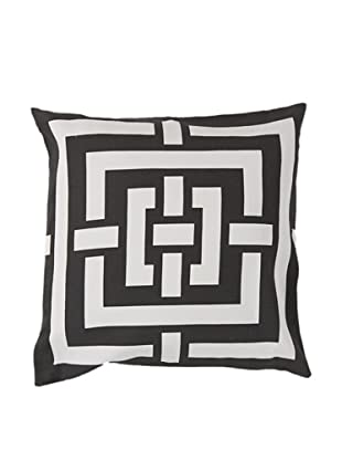 Surya Geometric Throw Pillow, Dark Forest/Ivory