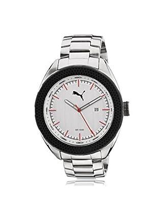 Puma Men's PU103261001 Silver/White Stainless Steel Watch