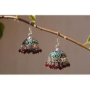 Gajgauri Silver Jhumki Earring