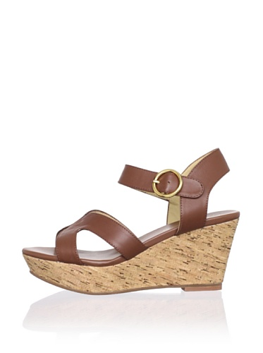 Matt Bernson Women's Kuba Cross-Front Cork Wedge (Cognac)