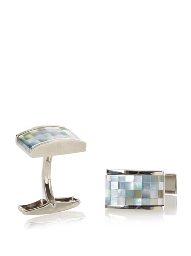 Daniel Dolce Men's Mosaic Cufflinks, Charcoal