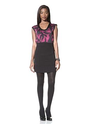 Catherine Malandrino Women's Skirt with Pleated Hem (Black)