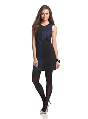 JB by Julie Brown Women's Colorblock Shift Dress (Navy/Black)