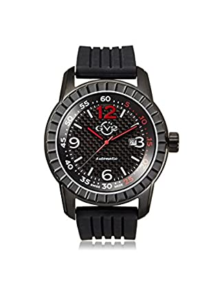 GV2 by Gevril Men's 9302 Lucky 7 Black Rubber Watch