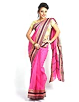 UDAY Bengal Saree (UDFITA7_Pink)