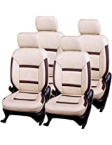 AutoDecor DS-125 Beige Leatherite Car Seat Cover For Honda Jazz(PACK OF 4)