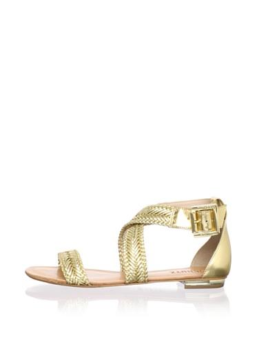 Schutz Women's Flat Sandal (Ouro)